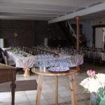 Partyraum mit gedeckten Tischen im Raum des Haus Hülsdonk